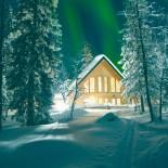 Ferienhaus Lappland - bei Nacht