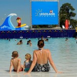 Familie im Waterpark Florida