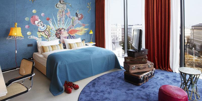 25 hours Hotel Wien, Suite L mit grossem Doppelbett Bild@25 hours Hotel Wien