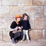 Elizabeth Street Mutter mit Sohn