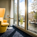 Andaz Hotel Amsterdam: Large Canal View; Bild: PR Andaz Amsterdam