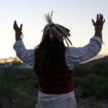 Apache m Sonnenuntergang