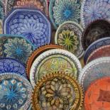 Club Aldiana Tunesien: Keramikschalen auf dem Markt; Bild: Adrienne Friedlaender