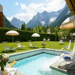 Sporthotel Bad Moos - Pool und Liegewiese