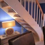Ferienhaus Diekhof: Diele mit Treppe; Bild: PR Diekhof