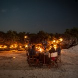 Dinner am Strand auf Zanzibar