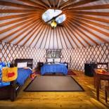 El Capitan Canyon - Yurt-Zelt von innen Foto: PR El Capitan Canyon