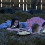 Feriendorf Holzleb'n: Kinder schlafen im Heu; Bild: PR Holzleb'n