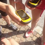 GPS-Geräte: Die ersten Koordinaten werden eingegeben ...
