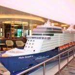 TUI Cruises - Mein Schiff 4: Schiffsmodell an Bord, Trips4Kids.de, Foto: Andrea Fischer