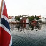 Norwegen: Lyngor Flagge, Bild: Sonja Vodicka