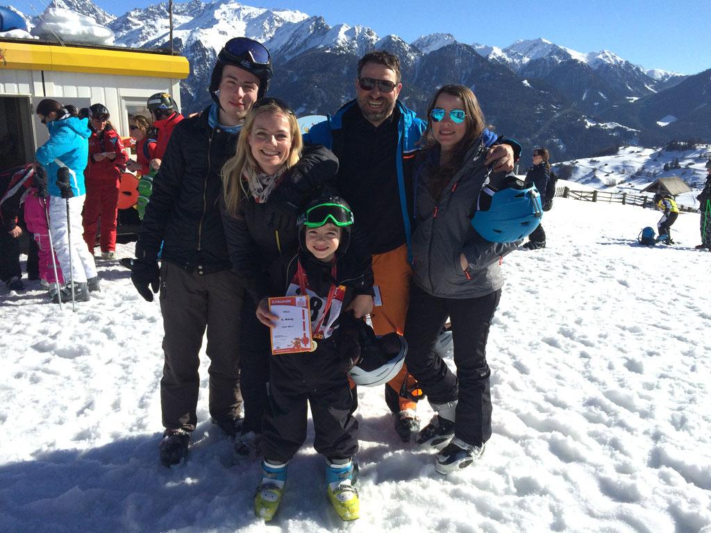 Siegererhrung Kinderrennen Serfaus-Fiss-Ladis  Andrea Fischer Trips4Kids