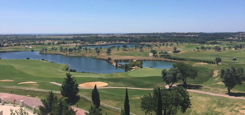 Ausblick auf den Golfplatz im Anantara Vilamoura Algarve Resort