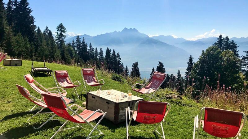 Ausblick-von-Villar-sur-Ollon, Genfer Seeenregion ©Foto: Andrea Fischer