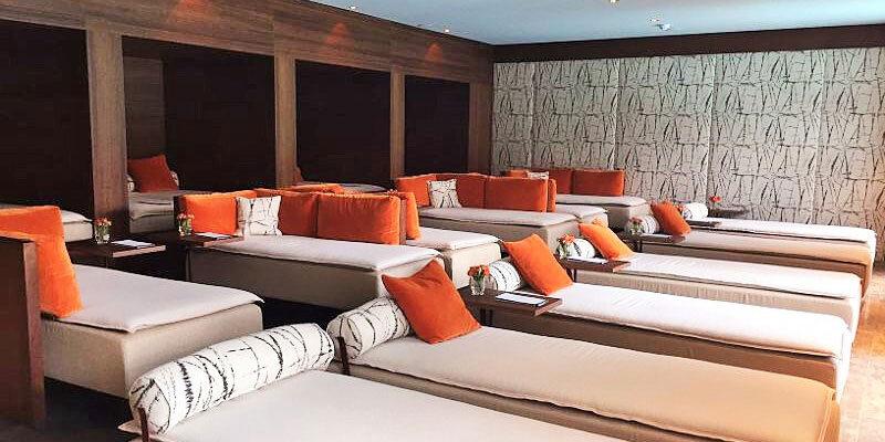 Bachmair Weissach Hotel, Ruheraum im MIZU ONSEN Spa; Bild: Sandra Mueller-Hofner, Trips4kids.de