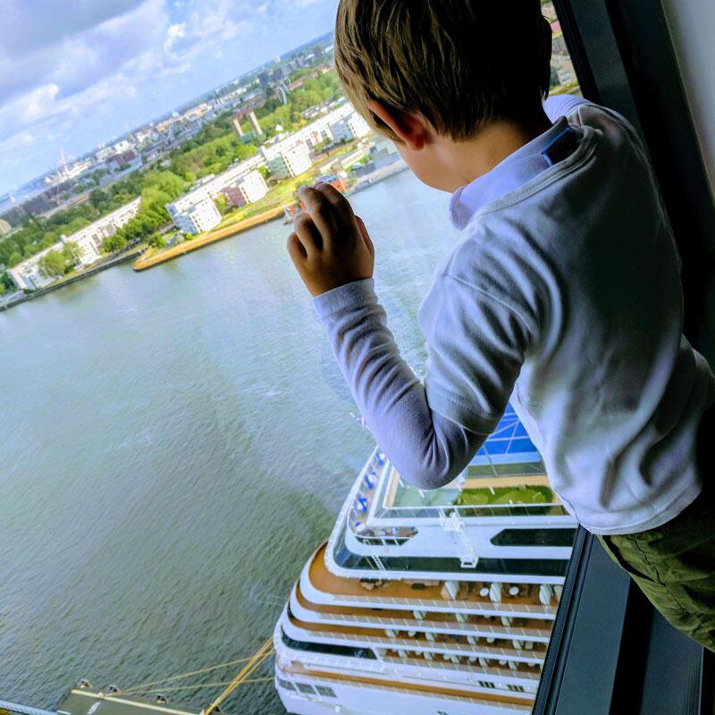 Blick vom Moevenpick Hotel Amstaerdam