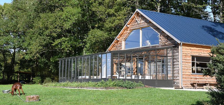 Country Lodge Ansicht mit Wintergarten