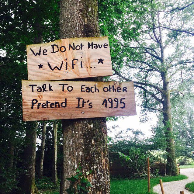 Schild in der Country Lodge