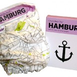 Crumpled City Map für Hamburg