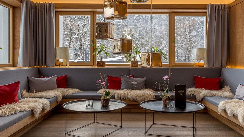 Das Graseck - Loungebereich im Winter