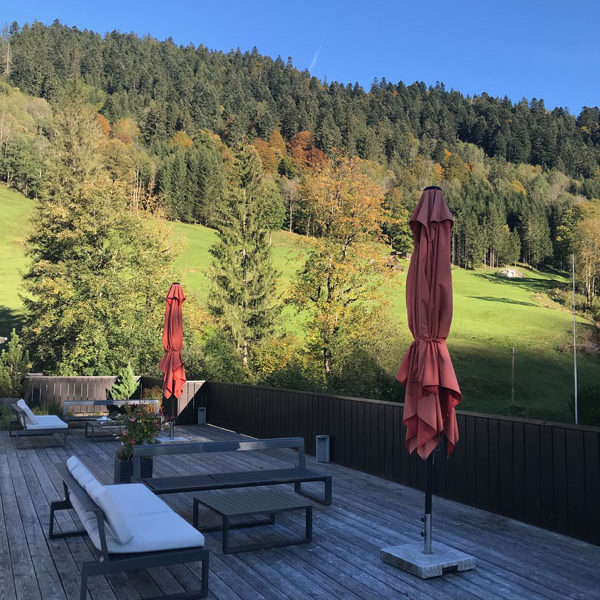 Das Graseck in Garmisch -Partenkirchen - Terrasse mit Ausblick