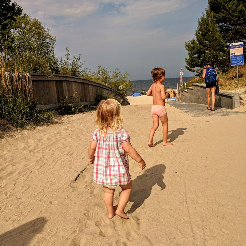 Direkter-Strandzugang von den Strandvillen Heringsdorf © Foto: Thomas Weiß