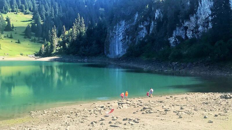 See Lac des Chavaunnes, Wanderung-Balade des 3 Lacs, Foto: Andrea Fischer
