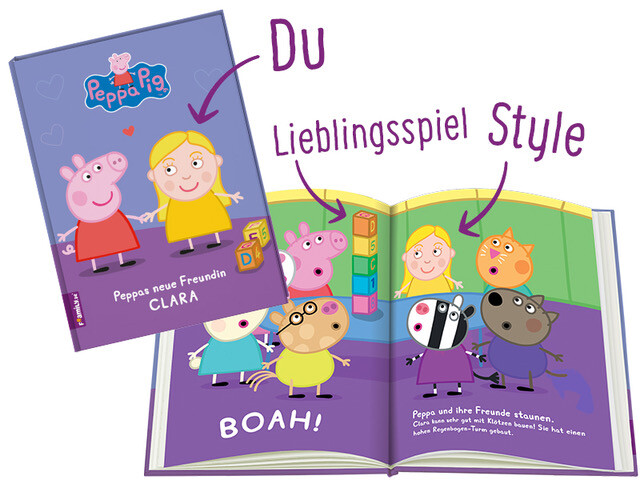 Framily Blick ins Buch Peppa Pig personalisiert!