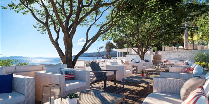 Valamar Girandella Resort Isrtien Terrasse