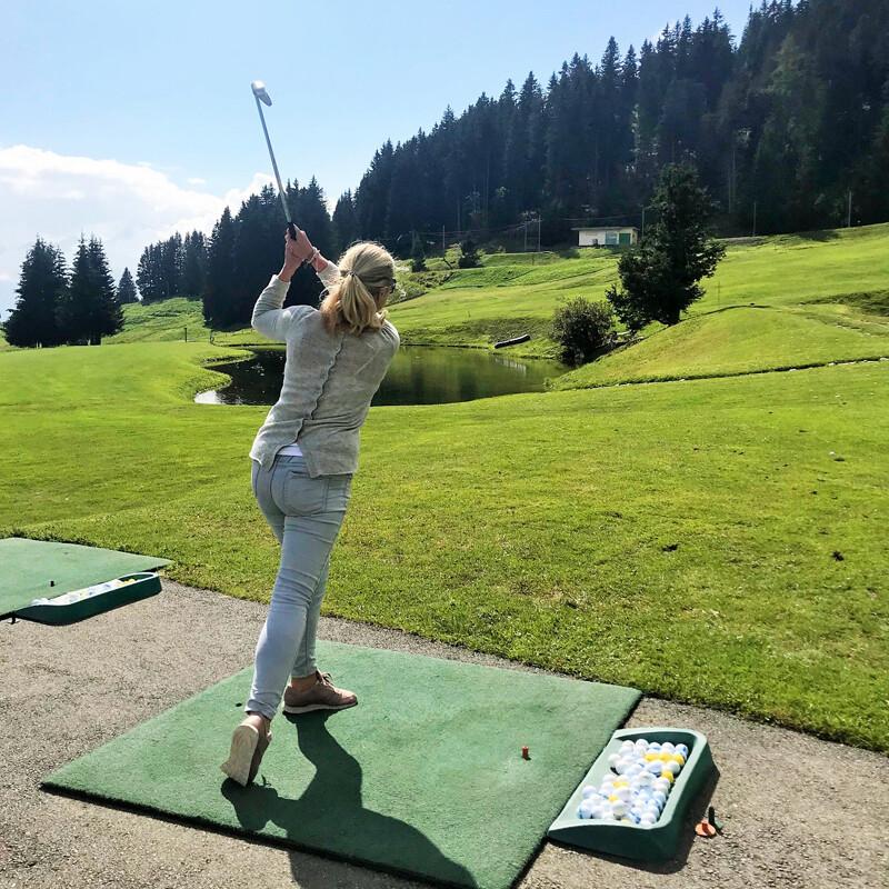 Golf Club Villars, Schnuppergolfen Foto: Andrea Fischer