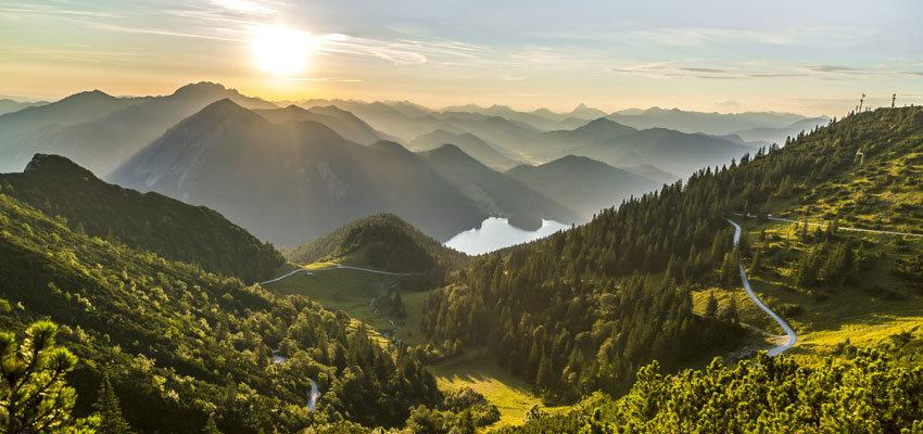 Herzogstand Gipfel Sonnenaufgang