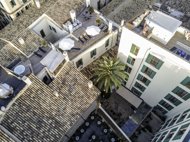 Ausblick vom Dach des Hotels Tres