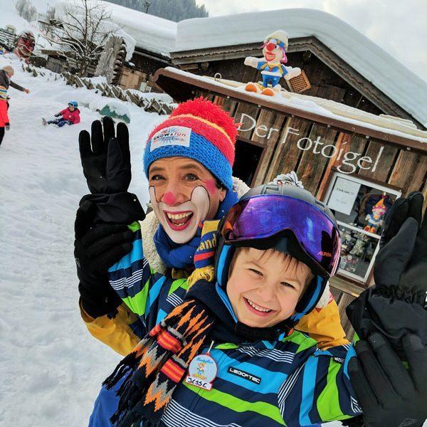 Snowly, Clown Skischule Saalbach-Hinterglemm @Foto: Thomas Weiß