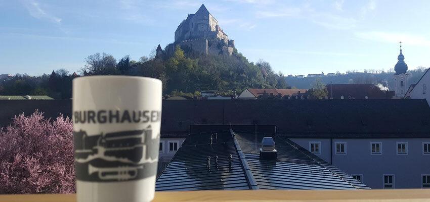 Ausblick von der Jugendherberge Burghausen