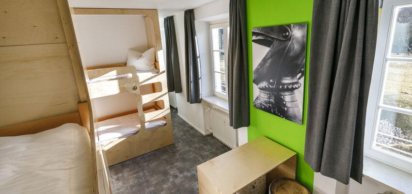 Etagenbetten in der Jugendherberge Burghausen