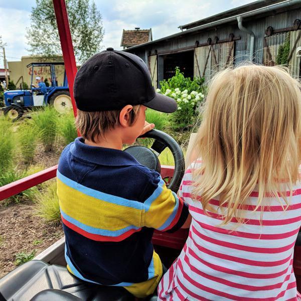 Karls-Erdbeerhof-Kids beim Treckerfahren© Foto: Thomas Weiss