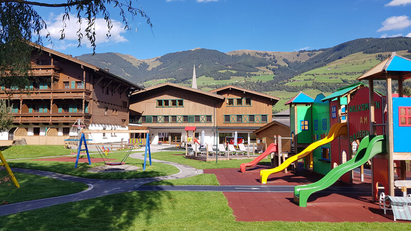 Kinderhotel Felben mit Rutschen und Garten Foto: © Aline Scheuböck, Trips4Kids.de