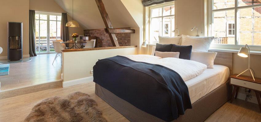Blick ins Zimmer 24 im Landhaus Averbeck