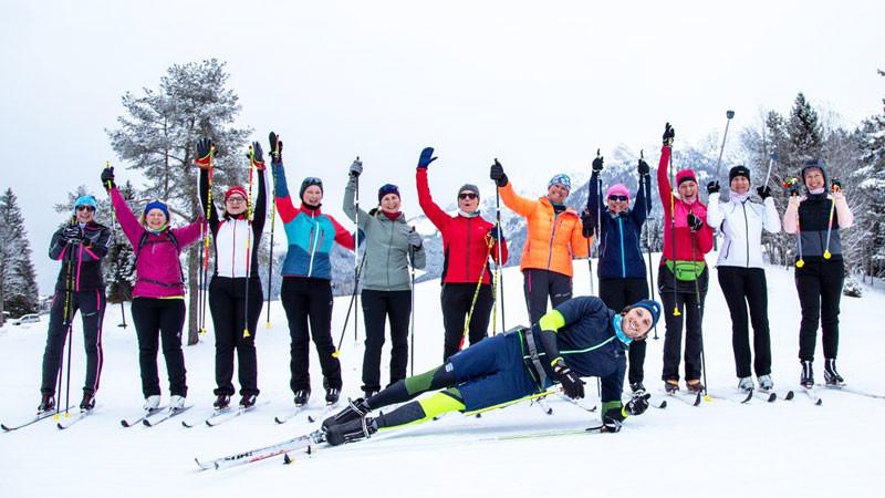 Women's Langlauf Camp Seefeld Gruppenbild