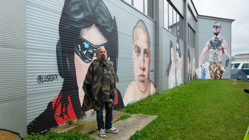 Linz Graffitifuerung im Linzer Hafen