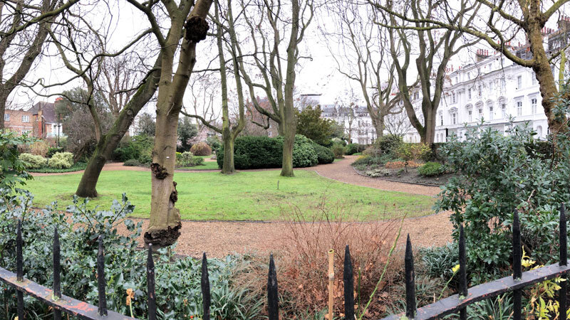 Garten in London Kensington
