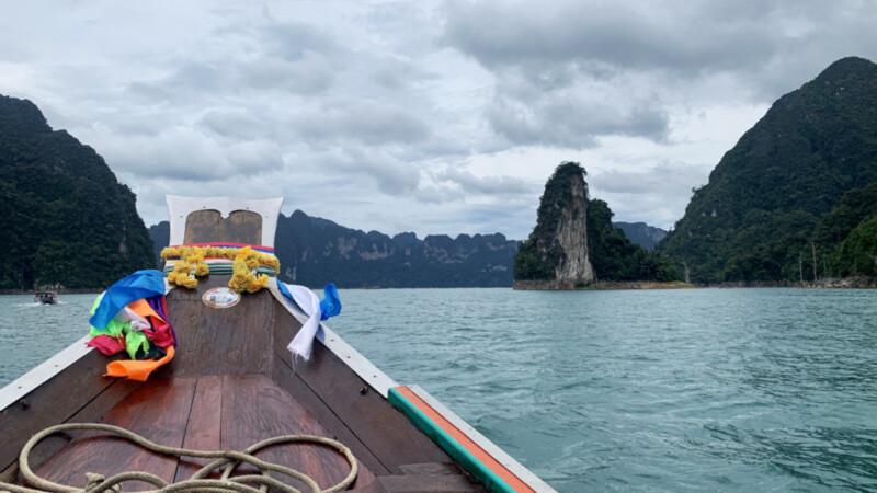 Longboot-Fahrt-Cheo-Larn-Lake, Elephant Hills, Foto: © Andrea Fischer