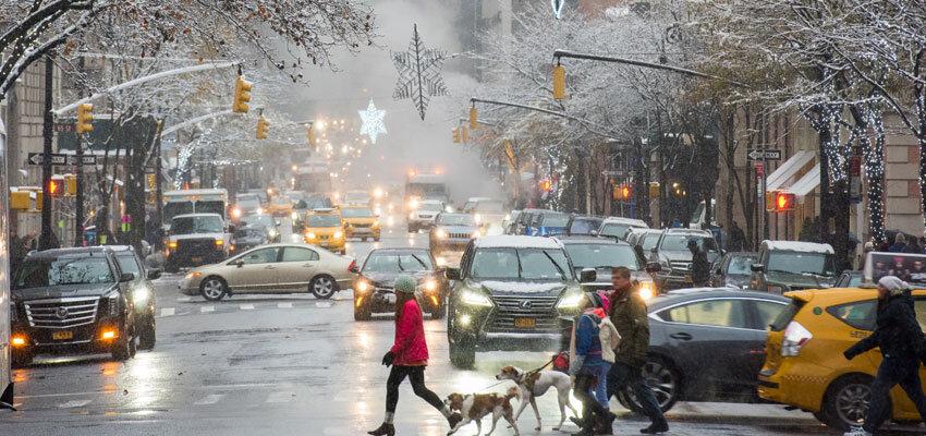 Madison Avenue im Winter
