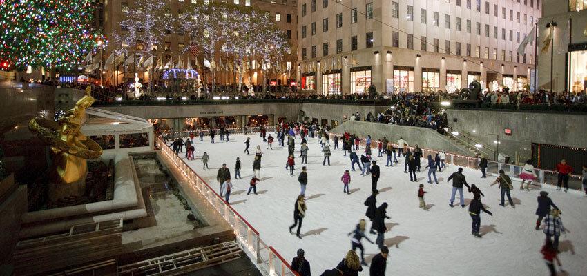 Schlittschuhlaufen im Rockefeller Center