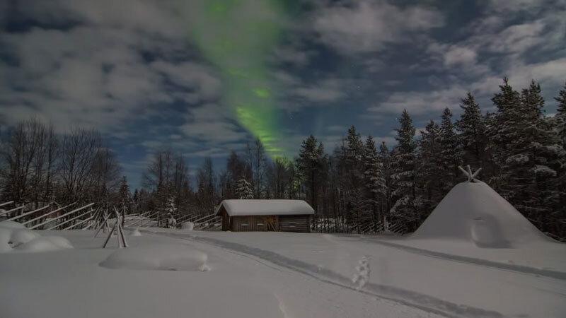 Poromatkailu-Winter mit Polarlicht Foto: Nicole_Matthias_Hochzeit