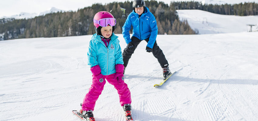Skifahren mit Kindern im Oetztal