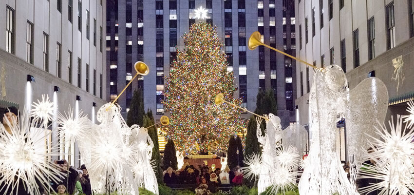 NYC Christmastree am Rockefeller Center