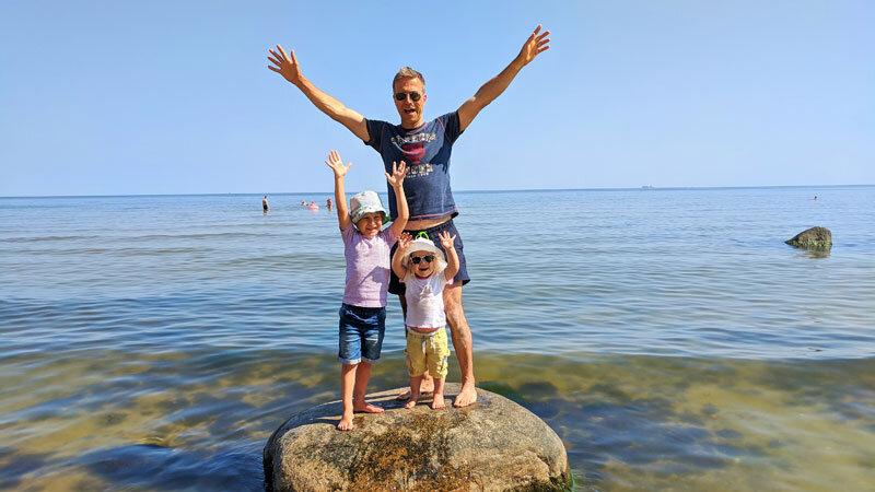 Familie am Strand, Usedom