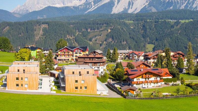 Panoramaansicht der Alpenrock Appartements Schladming