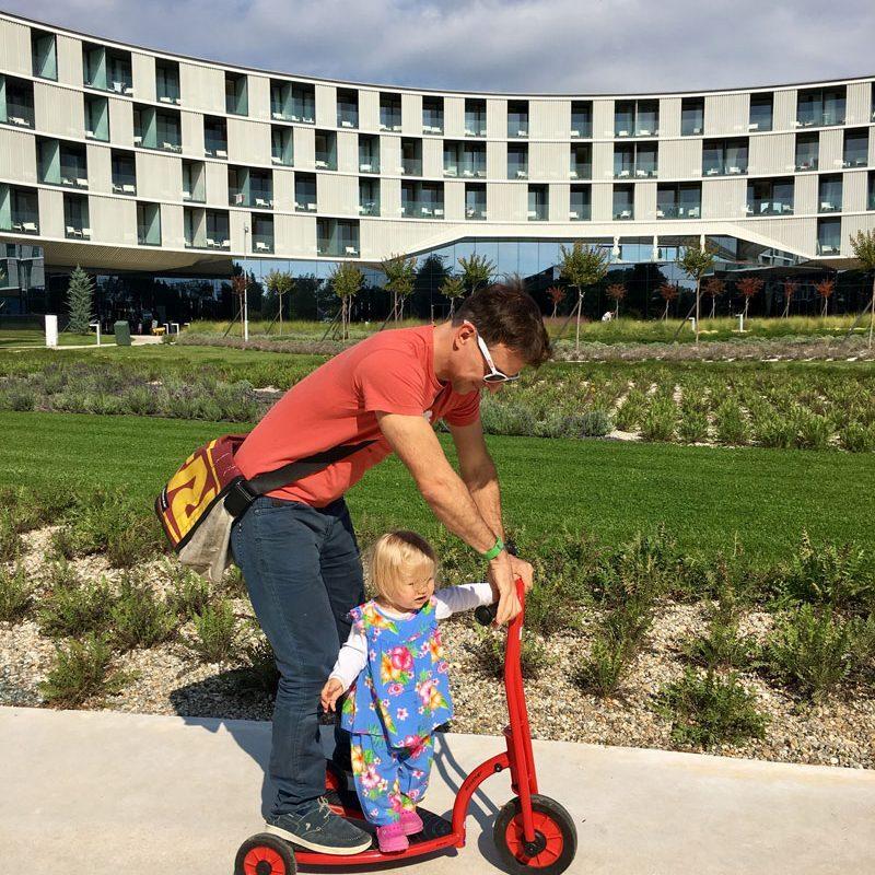 Roller fahren, Hotel Amarin